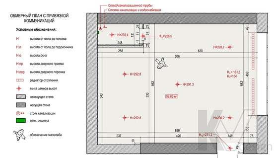 План помещения кафе в Одинцово, ЖК Да-Винчи
