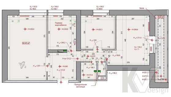 Планировка 3-комнатной квартиры II-68