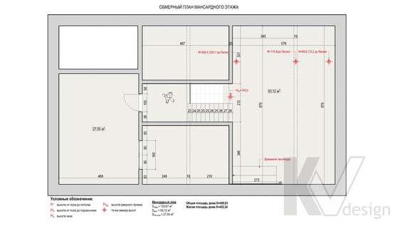 Планировка пятого этажа дома в доме 500 кв.м., Поведники