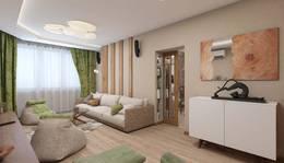 Частичные деревянные панели в квартире в ЖК Бутово-Парк
