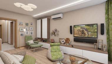 Дизайн трехкомнатной квартиры, Бутово-Парк