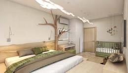 Дерево в интерьере спальни, Бутово-Парк