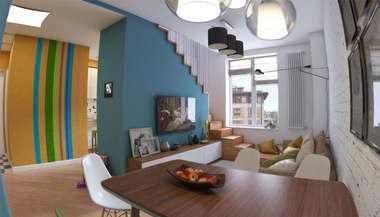 Дизайн двухуровневой квартиры в ЖК «Опалиха О2»