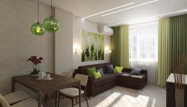 Дизайн двухкомнатной квартиры в 70 кв.м., Долгопрудный