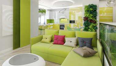 Интерьер трехкомнатной  квартиры 100 кв.м. в ЖК «Князь Голицын»