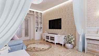 Дизайн трехкомнатной квартиры П-3 в классическом стиле, Коньково