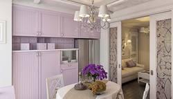 Балки в кухне-столовой, ЖК Альбатрос