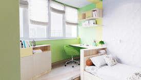 Салатовый цвет в интерьере детской комнаты
