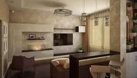 3D-визуализация гостиной, Павлово - 1