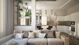 3D-визуализация гостиной, Павлово - 2