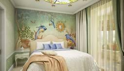 Фисташковый цвет в интерьере спальни, Коломенская