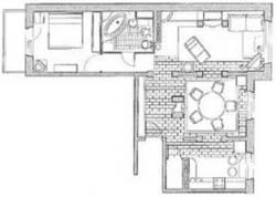 Дизайн 3 х комнатной квартиры 121 серии