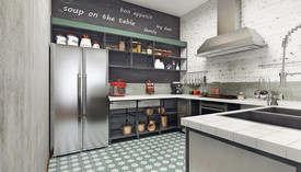Кухня в стиле лофт, Павлово-2