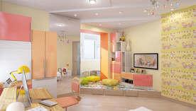 Желтый цвет в интерьере детской в квартире, Мытищи