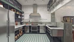 Керамическая плитка на полу кухни, Павлово-2