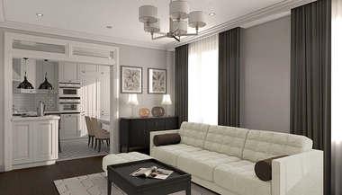 Дизайн-проект трехкомнатной квартиры в 81 кв.м. в ЖК Wellton Park
