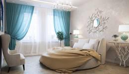 Декоративная краска в интерьере спальни, Павлово