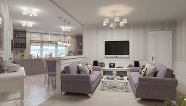 Дизайн проект трехкомнатной квартиры в 100 кв.м., Красногорск