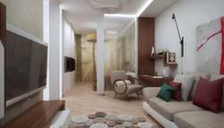 Дизайн комнаты в однокомнатной квартире, Павелецкая