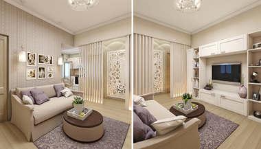 Дизайн-проект интерьера трехкомнатной квартиры в 80 кв.м. на м. Сокол