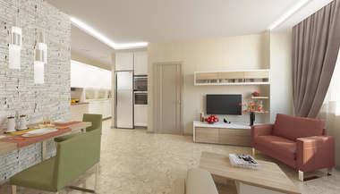 Дизайн-проект двухкомнатной квартиры в 68 кв.м. в Одинцово