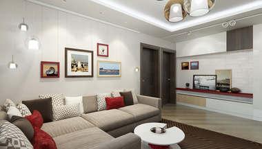 Проект трехкомнатной квартиры 76 кв.м. серии П-44Т, Речной вокзал