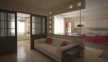 Дизайн квартиры 60 кв.м. | Дизайн проект квартиры площадью 60 кв.м.