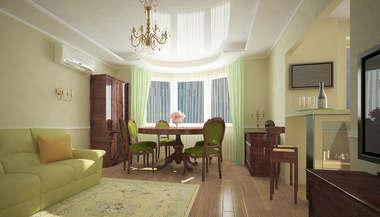 Дизайн двухкомнатной квартиры в городе Мытищи