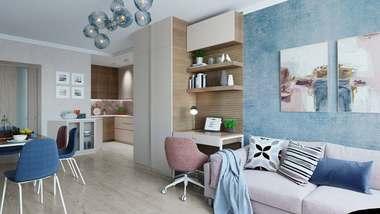 Дизайн трехкомнатной квартиры, ЖК «Дуэт»