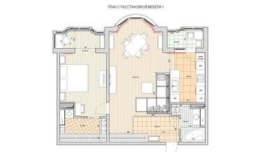 Перепланировка двухкомнатной квартиры серии И-155 | Портфолио