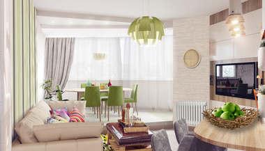 Дизайн-проект интерьера трехкомнатной квартиры, Митино