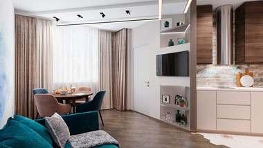 Дизайн двухкомнатной квартиры, ЖК «Испанские кварталы»