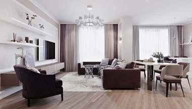 Дизайн четырехкомнатной квартиры в ЖК «Дыхание»