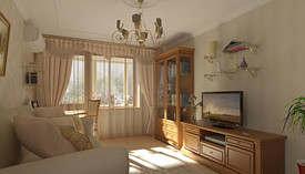 Дизайн маленькой гостиной с естественным освещением