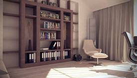 Бежевый цвет в интерьере кабинет, Жаворонки - 1