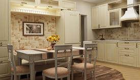 пастельные обои для кухни дизайн