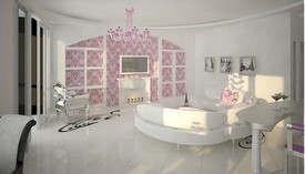 Розовый цвет в интерьере 3-комнатной квартиры