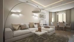 Интерьер гостиной в современном стиле в серии П-3М