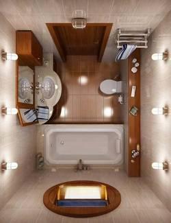 освещение ванной комнаты 2 кв.м.