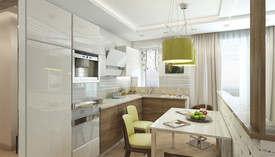 Оливковый цвет в интерьере гостиной, Мытищи - 2