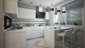 Серый цвет в интерьере кухни квартиры П-3М - 1
