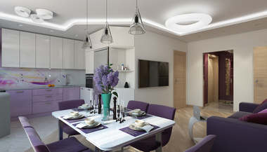 Дизайн трехкомнатной квартиры 120 кв.м., ЖК