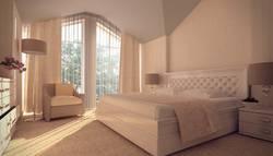 Ковролин в спальню, тип «саксони» в интерьере спальни