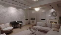 Фотообои в интерьере гостиной, м. Таганская