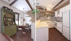 Пробковый пол в кухне и столовой, квартира в Коммунарке