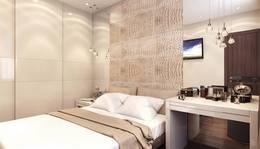 Кожаные и текстильные панели в интерьере спальни, Реутов
