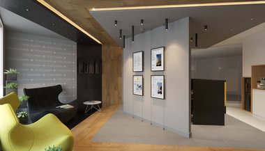 Дизайн кабинетов и зоны ресепшн в офисе Yokogawa Electric
