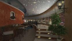 «Звездный» потолок, ресторан «Венеция»