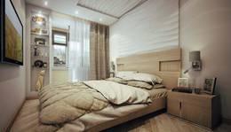 3D-панели из МДФ в интерьере спальни 2-комнатной квартиры