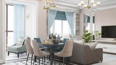 Дизайн трехкомнатной квартиры, ЖК «Тимирязев парк»